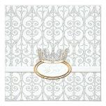 Invitation de baby shower de princesse Crown de