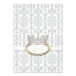 Invitation de baby shower de princesse Crown de Carton D'invitation 12,7 Cm X 17,78 Cm
