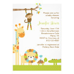 Invitation de baby shower de safari de jungle de m