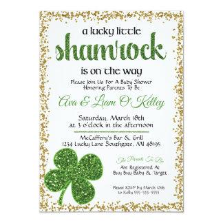 Invitation de baby shower de shamrock du jour de