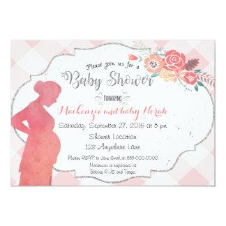 Invitation de baby shower de silhouette de bosse