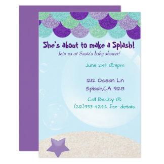 Invitation de baby shower de sirène