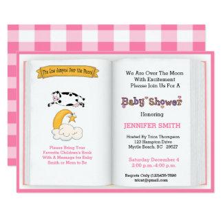 Invitation de baby shower de thème de livre