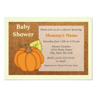 Invitation de baby shower de toile de jute de