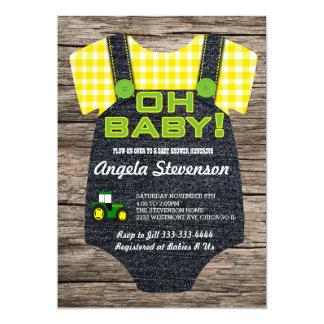 Invitation de baby shower de tracteur
