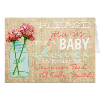 Invitation de baby shower de turquoise de pot de