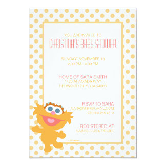 Invitation de baby shower de Zoe