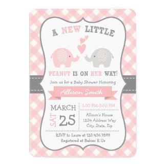 Invitation de baby shower d'éléphant, douche