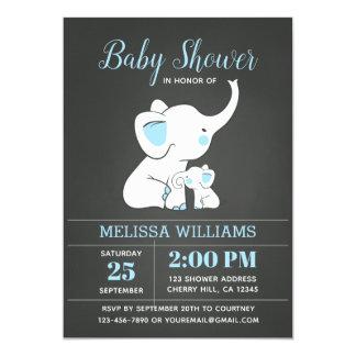 Invitation de baby shower d'éléphant pour le