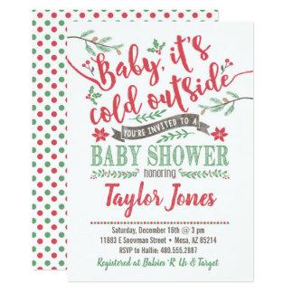 Invitation de baby shower d'hiver
