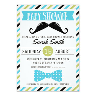 Invitation de baby shower d'homme d'arc de
