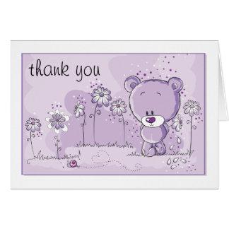 Invitation de baby shower d'ours de nounours -