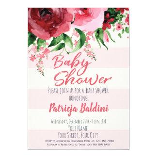 Invitation de baby shower florale