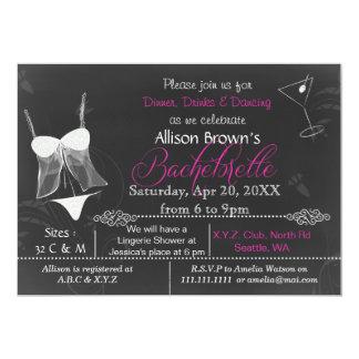Invitation de Bachelorette de douche de lingerie