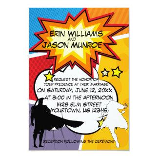 Invitation de bande dessinée de super héros