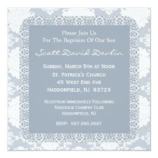 Invitation de baptême/baptême pour le garçon