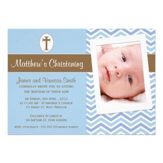 Invitation de baptême de baptême de garçons