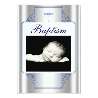 Invitation de baptême de garçon