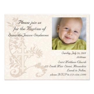 Invitation de baptême de photo de bébé