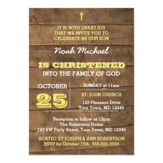 Invitation de baptême d'or de Barnwood