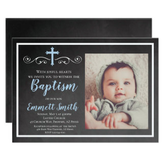 Invitation de baptême, tableau, garçon, baptême,