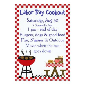 Invitation de barbecue de jardin de KRW