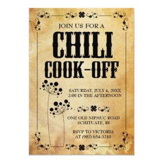 Invitation de barbecue de piments de ~