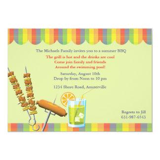 Invitation de barbecue d'été