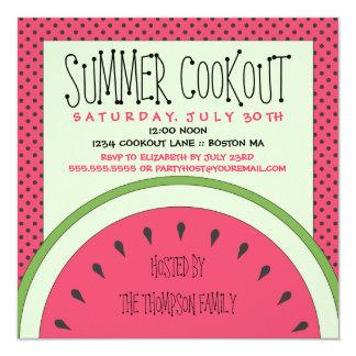 Invitation de barbecue d'été de pastèque