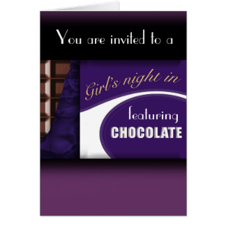 Invitation de barre de chocolat