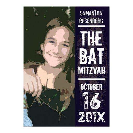 Invitation de bat mitzvah de groupe de rock