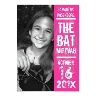 Invitation de bat mitzvah de groupe de rock dans