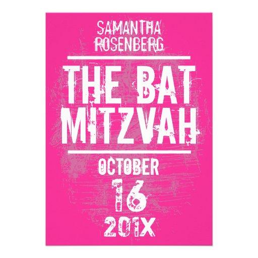 Invitation de bat mitzvah de groupe de rock dans l