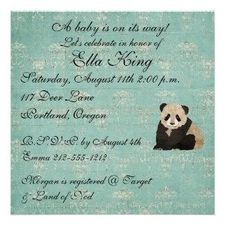 Invitation de bébé d'ours panda