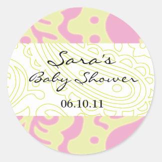 Invitation de bébé ou autocollant de faveur -