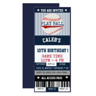 Invitation de billet de base-ball