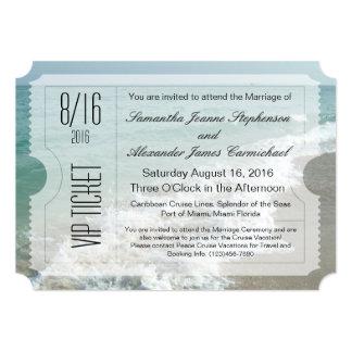 Invitation de billet de mariage de destination de carton d'invitation  12,7 cm x 17,78 cm