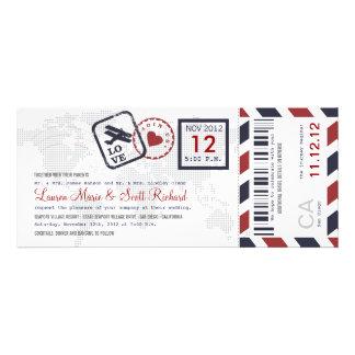 Invitation de billet de par avion de carte d embar
