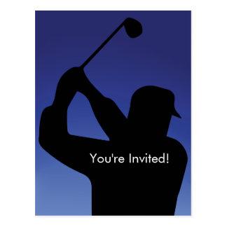 Invitation de bleu du golf des hommes
