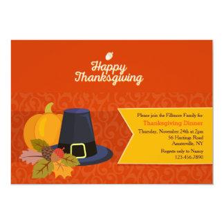 Invitation de bonheur de thanksgiving