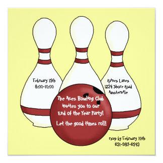 Invitation de bowling