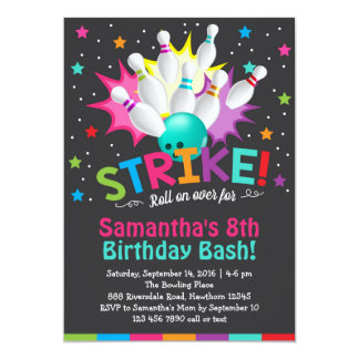 invitation de bowling, invitation d'anniversaire