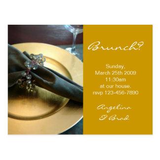 Invitation de brunch