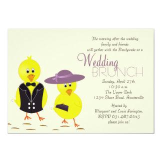 Invitation de brunch de mariage de courrier de