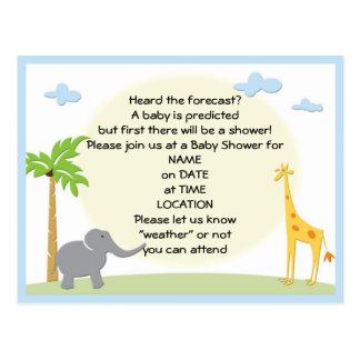 invitation de carte postale de jungle de baby