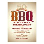 Invitation de célébration de BBQ d'anniversaire d'