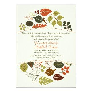 Invitation de cercle d'automne