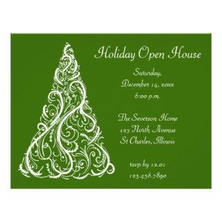 Invitation de Chambre ouverte de vacances d'arbre Prospectus 21,6 Cm X 24,94 Cm