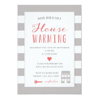 Invitation de chauffage de partie de Chambre grise
