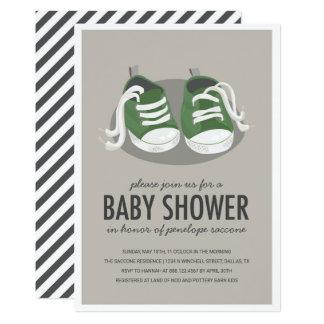 Invitation de chaussures de baskets de bébé
